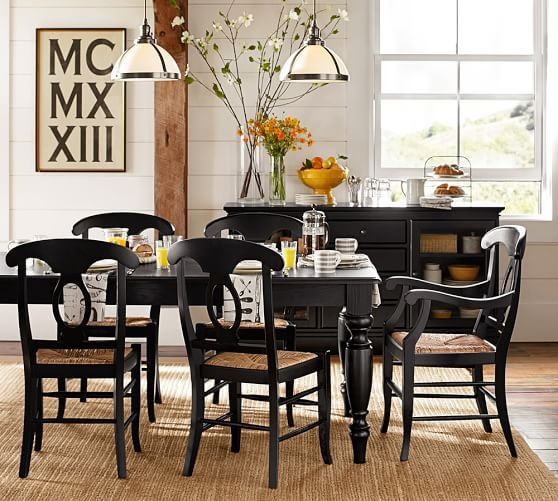 lachman extending dining table black dining tablesrustic - Black Kitchen Tables
