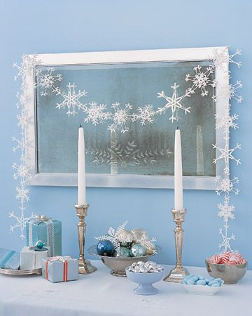 snowflake: Blue Christmas, Ice Crystals, Winter Wonderland, Paper Snowflakes, Martha Stewart, Crochet Snowflakes, Christmas Decor, Christmas Garlands, Snowflakes Garlands