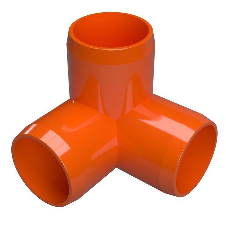 "3/4"" 3-Way PVC Elbow Fitting - Furniture Grade"