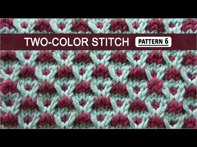 Two-color Stitch Pattern #6