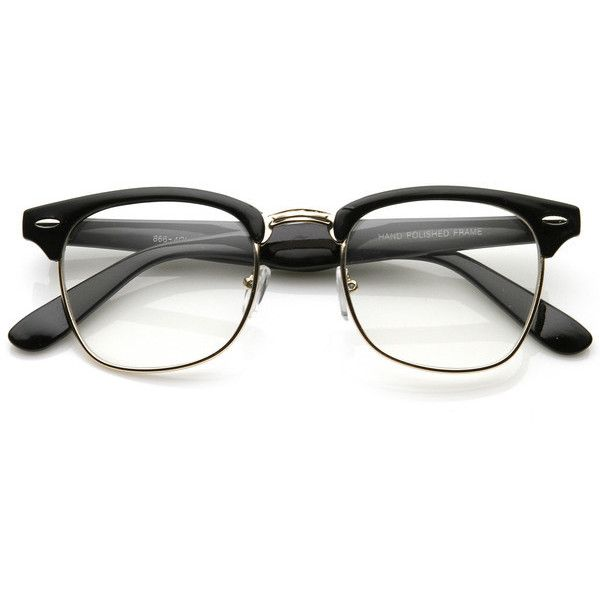 Vintage Inspired Classic Wayfarer Clubmaster Clear Lens ...