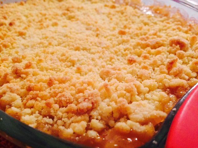 Crumble aux Pommes et son Caramel