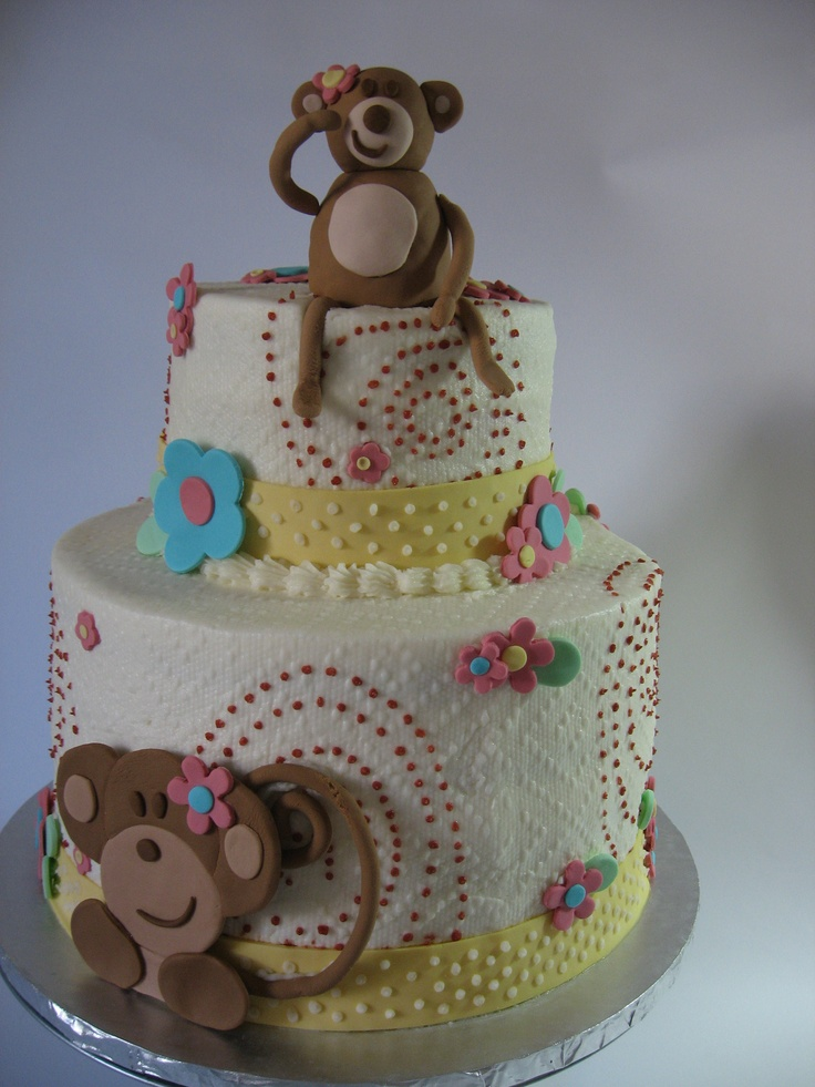17 best images about monkey theme baby shower on pinterest themed baby showers monkey - Baby shower monkey theme cakes ...