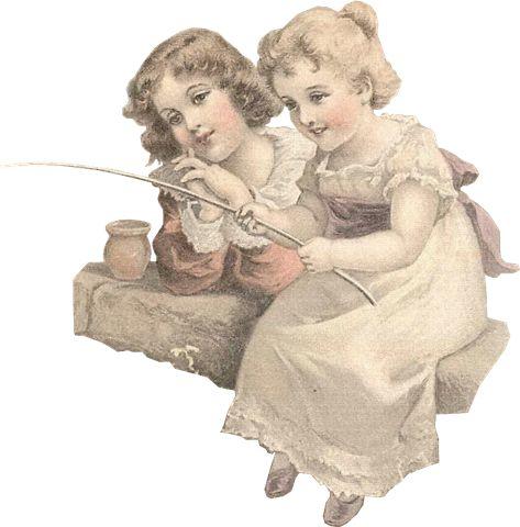 duas-crianças-vintage