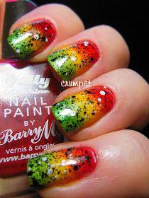 The Crumpet: Tri Polish Challenge - Rasta Nails