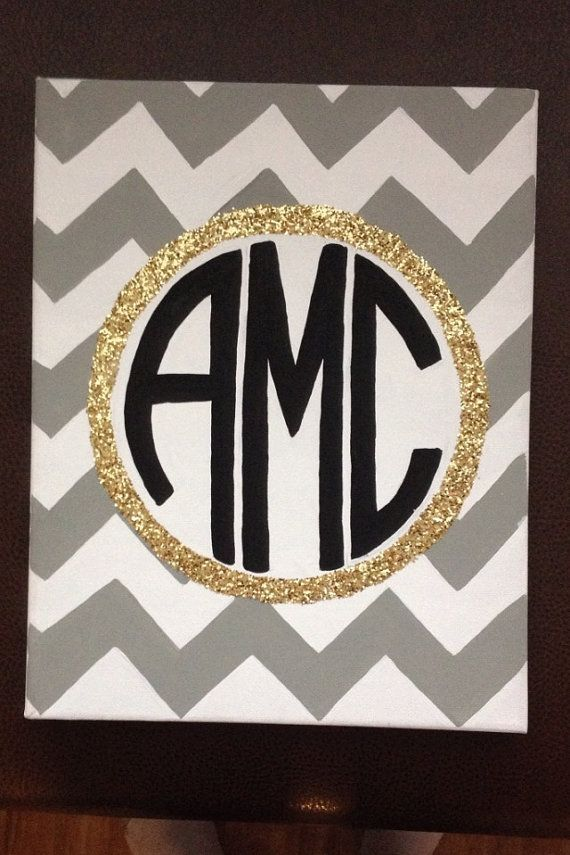 Monogram Canvas by GettysCrafts on Etsy