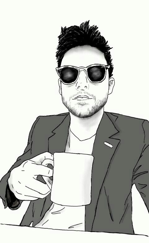 Jack Falahee digital sketch