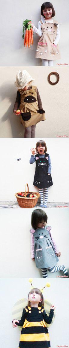 """Сарафанчики для девочек - """"веселые зверята"""" (много фото) - Выкройки детской…"""