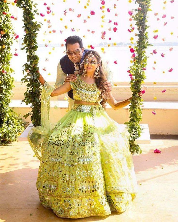 noivos-vestido-de-noiva-indiano-verde
