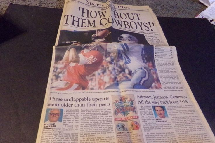 Dallas Morning News Sports Dallas Cowboys NFC Champs How Bout Them Cowboys 1993