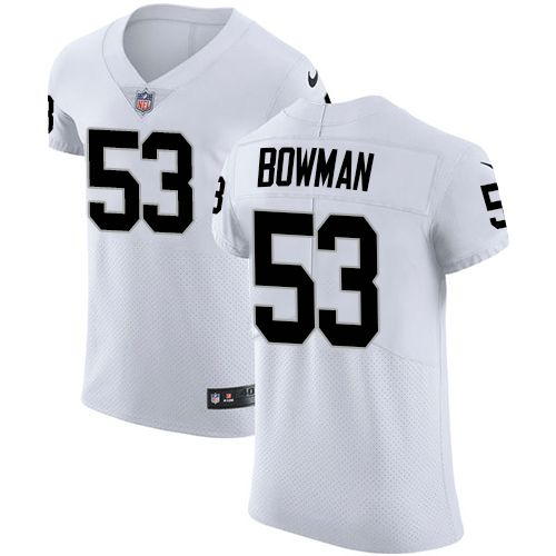 Nike Raiders #53 NaVorro Bowman White Men's Stitched NFL Vapor Untouchable Elite Jersey