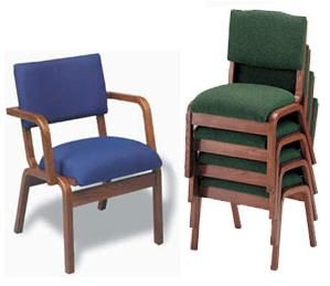 Padded Oak Wood Stack Chairs  Create A Pew Look With The Flexibility Of  Modular Seating. Church NurseryFolding ...