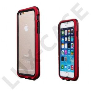 Luphie (Sort / Rød) iPhone 6 Matall Og TPU Bumper