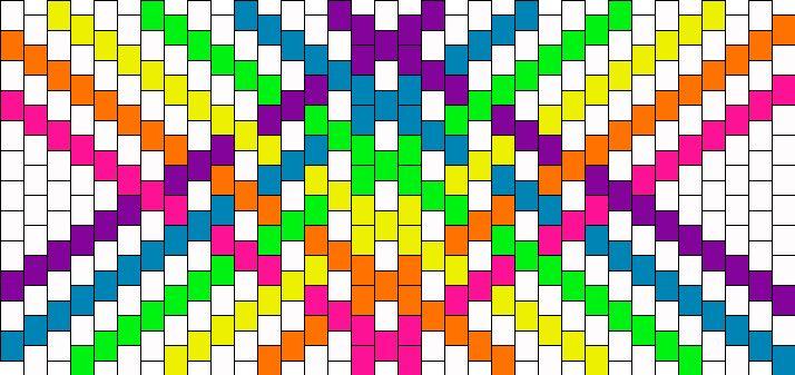 Ranbowpluswhite Kandi Pattern