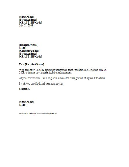 basic yet professional sample resignation letter template tips pinterest resignation letter letter templates and office templates