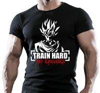 Comprar Goku Train Hard No Excuses Bodybuilding Motivation T-shirt em Wish - Comprar ficou mais divertido
