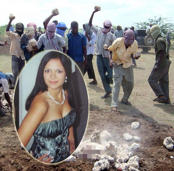 Woman stoning isis