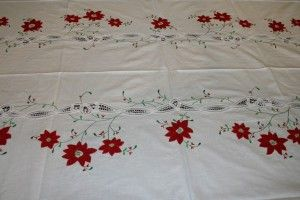 Classic Red Poinsettia appliqué on pure white cotton fabric with Battenburg Lace is the crown jewel of large size table setting this holiday season for a very affordable budget.  SHOP NOW https://thelaceandlinensco.com/store/products/christmas-large-tablecloth-batten-poinsettia-pure-cotton/attachment/wbatten-poinsettia-img_2444  #shopvintage #vintagedecor #weddings #lace #battenburg #antique #handembroidered #vintagedoily #vintagefinds #victorian #vintagegoods #vintagelinens #linens #vintage
