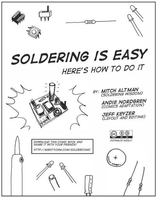 Cartoons that make soldering simple. And as every good Geek knows, soldering is a basic skill. Like boiling water for foodies.: Crafts Ideas, Soldering Comic, Diy Crafts, Comic Books, Jewelry Ideas, Comics, Jewelry Sold, Coloring Books, Jewelry Diy