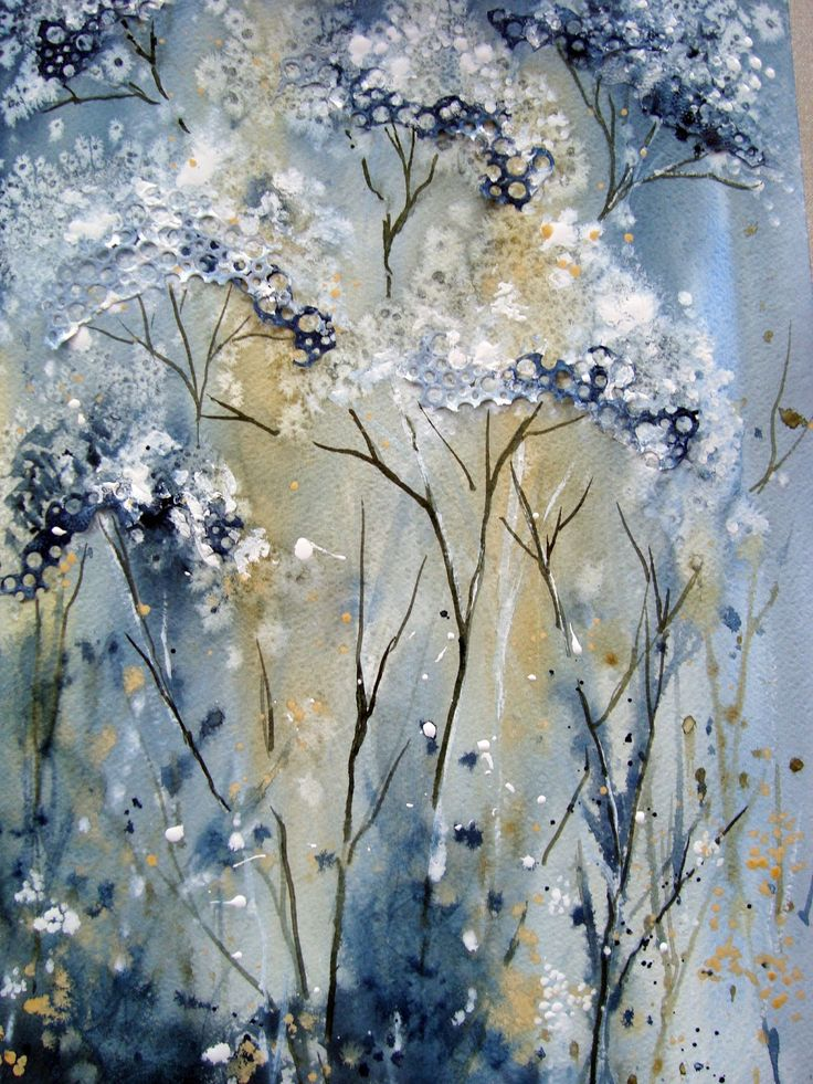 Watercolour Florals Cow Parsley Yvonne Harry