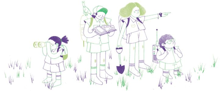 Illustrations for Editorial Norma, to be used in their 2017 calendar. Different situations involving kids, books and exploration.