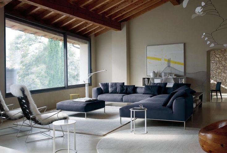 Sofa in Grau – 50 Wohnzimmer mit Designer Couch # ...
