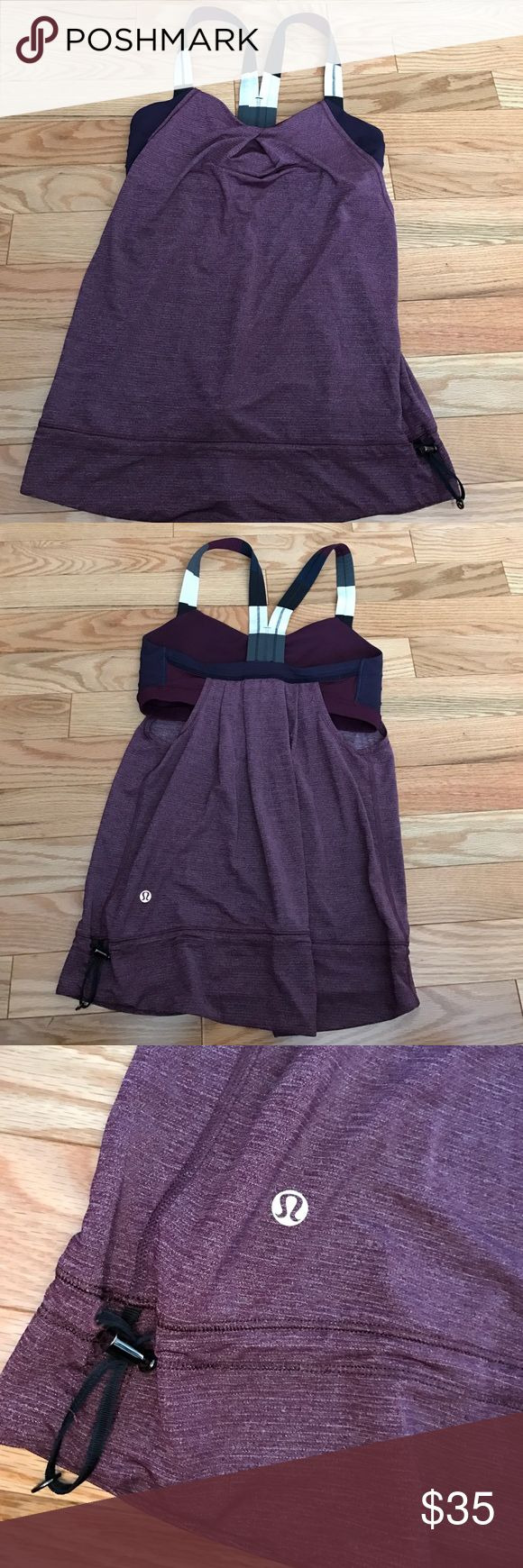 Lululemon tank Worn twice in excellent condition. Super cute, popular color combo with built in  ...