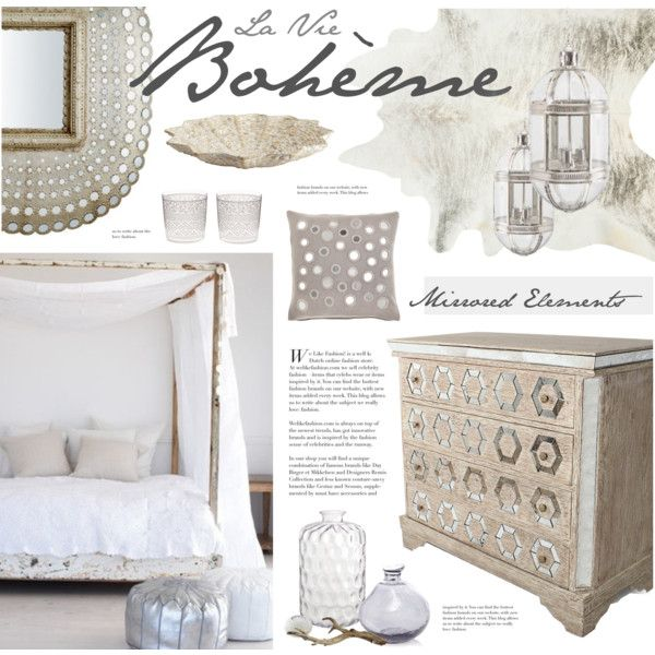 Boho Chic Bedroom By Bellamarie On Polyvore I Love The Pewter Metallic And