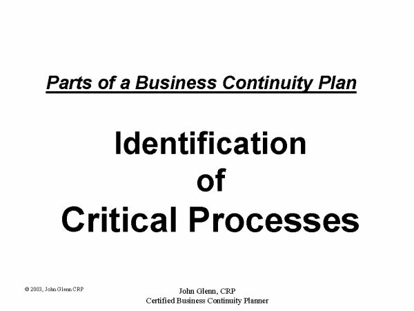 Business Continuity Planning and Disaster Recovery Planning World: Presentations