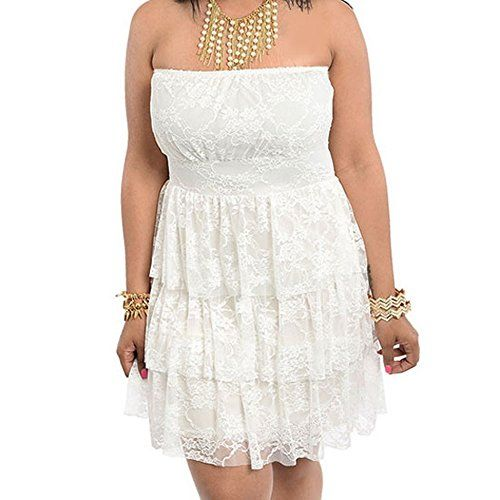 8803 - Plus Size Strapless Tiered Lace Cocktail Sun Dress... http://www.amazon.com/dp/B015L6QBIC/ref=cm_sw_r_pi_dp_X-2gxb19TG6PV