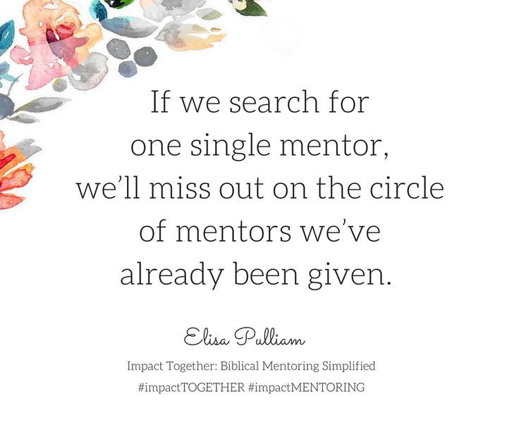 mentor christian singles Mentoring for sons of single moms 888-725 a boy could benefit in many ways by developing a positive relationship with a man and wife who have a strong christian.