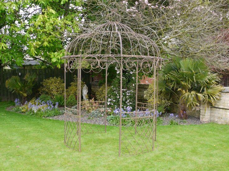 Stile Shabby Chic marrone in ferro battuto da giardino in