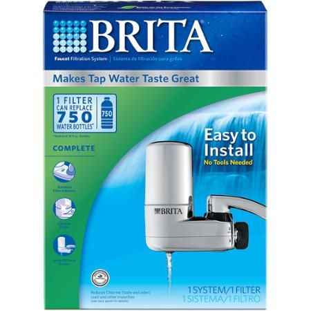 Brita On Tap Faucet Water Filter System, Chrome - Walmart.com