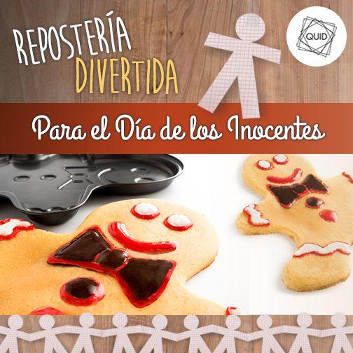 Una receta dulce para el Día de los Inocentes: bizcocho genovés con forma de muñeco www.elchefdelacasa.com/una-receta-dulce-para-el-dia-de-los-inocentes-bizcocho-genoves-con-forma-de-muneco