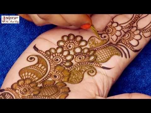 Simple Arabic Henna Mehndi Designs For Hands 3d Mehndi Designs Henna Tutorial By Jyoti Sachdeva Youtube Desain Henna Henna Tangan Mehndi Designs