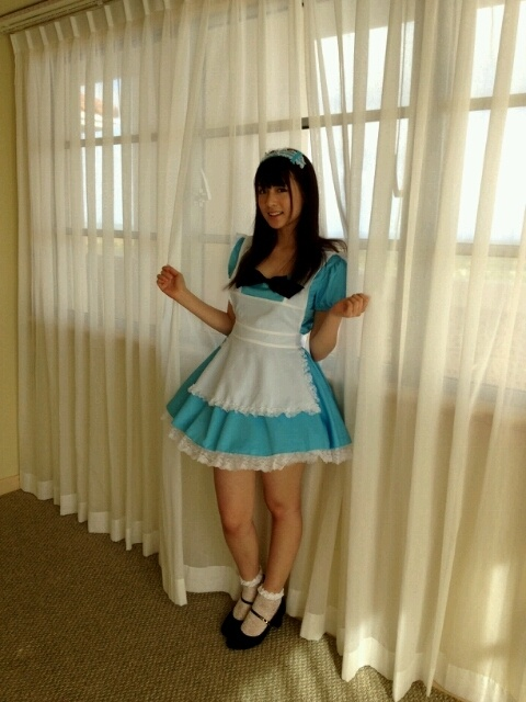 White frilly ankl socks black heels blue maid uniform  costumes in 2019  Fashion Maid
