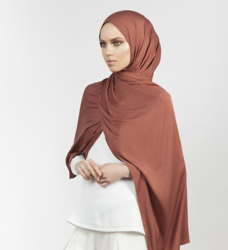 INAYAH   Matte Rust Soft Touch Rayon Hijab www.inayah.co