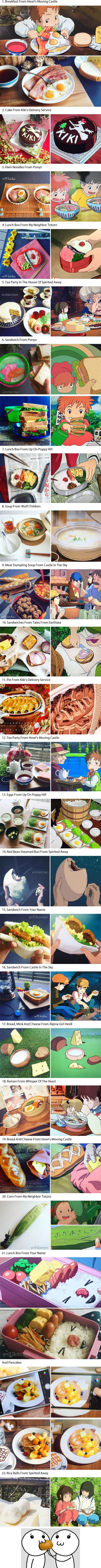 Japanese Woman Recreates The Delicious Food From Studio Ghibli Films
