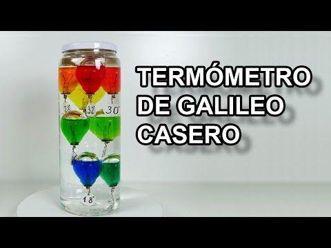 Termometro de Galileo Casero #todoesagua - Experimentar En Casa - YouTube