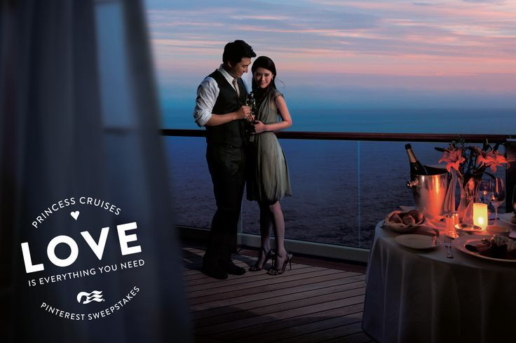 Love is everything you need. And I'd love dinner for two on a cruise with you.