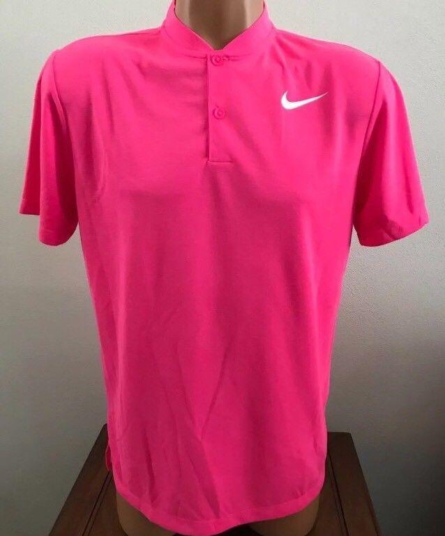 a097dbbab5da Nike Men s Modern Fit Transition Hot Pink Polo Golf Shirt Sz. M NEW 850698  639
