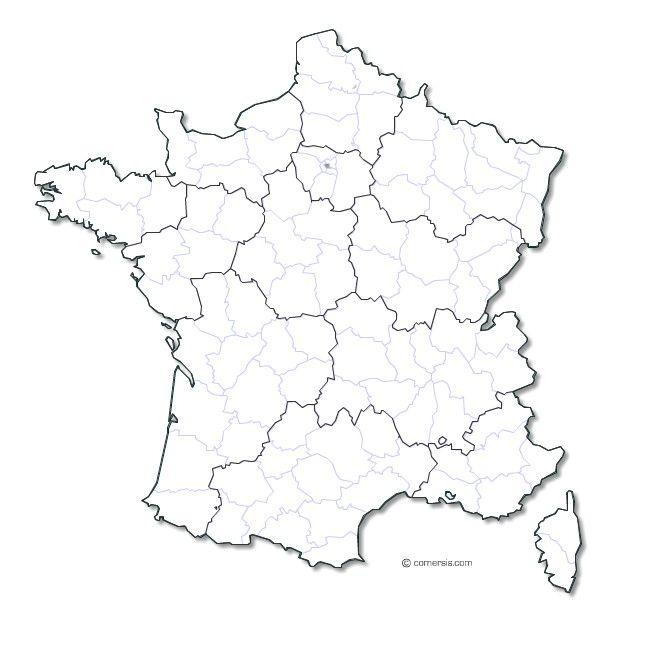 Carte de france vectorielle | Carte vierge, Carte de ...