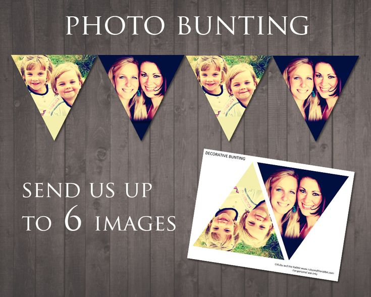 PRINTABLE PHOTO BUNTING - send us up to 6 images and we'll create your photo bunting