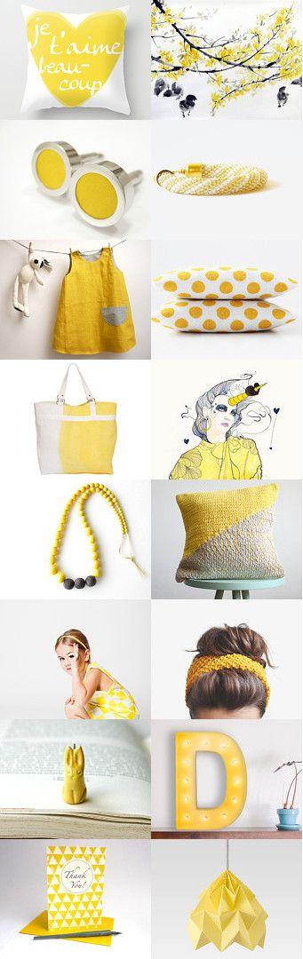 happy sunny day! by pooka design shop on Etsy--Pinned with TreasuryPin.com #etsy #shop #treasury #yellow