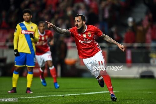 02-11 Benfica's Greek forward Konstantinos Mitroglou... #agioskonstantinosgr: 02-11 Benfica's Greek forward… #agioskonstantinosgr