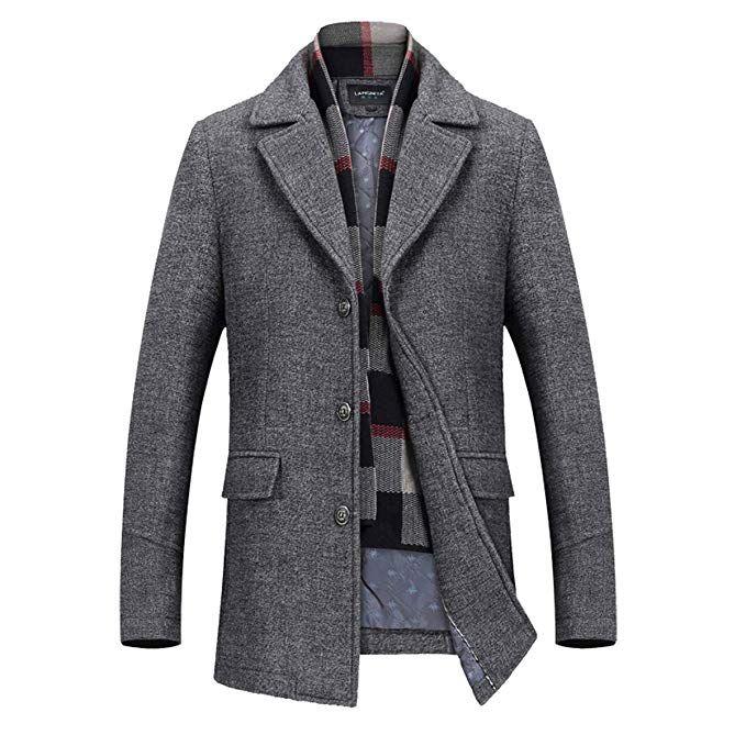 Men/'s Winter Coat Long Jackets Trench Wool Overcoat Outwear Dress Tops Overcoat