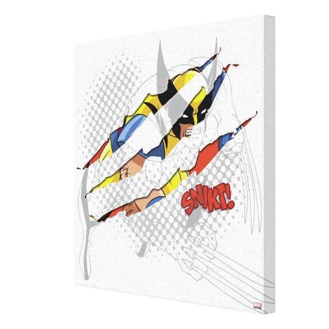 Classic X Men Wolverine Sliced Color Graphic Canvas Print Ad Paid Color Sliced Canvas Graphic Classic Retro Canvas Art Canvas Art Prints Prints