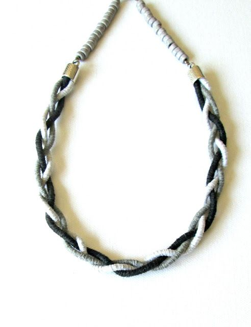 An idea for a quick and stylish cord neclace by O & N craft supplies.