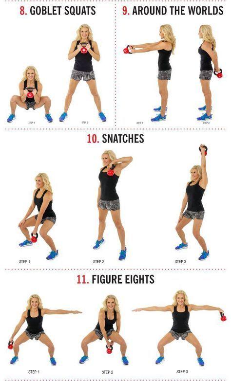 Arm Workouts Women: 14 Kettlebell Calorie Blaster Workouts