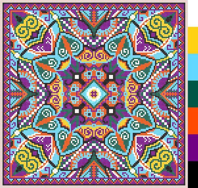 geometric Ukrainian cross-stitch pattern